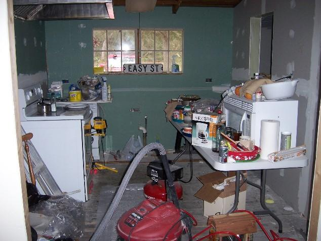 Kitchen Construction Underway : Return to w ue photos page katrina and her aftermath